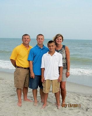 Steve, Blake, Brandon and Denise Butz
